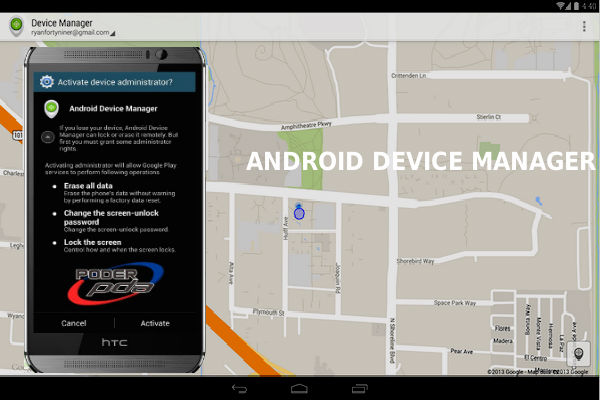localizar móvil con Android device manager
