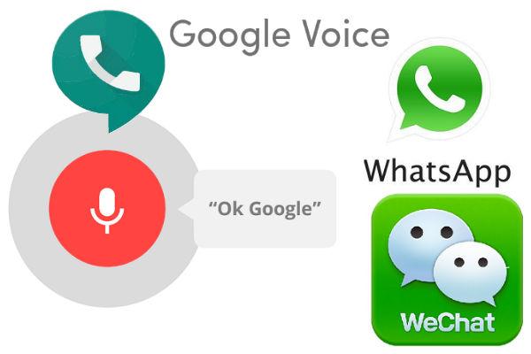 whastapp número oculto google voice