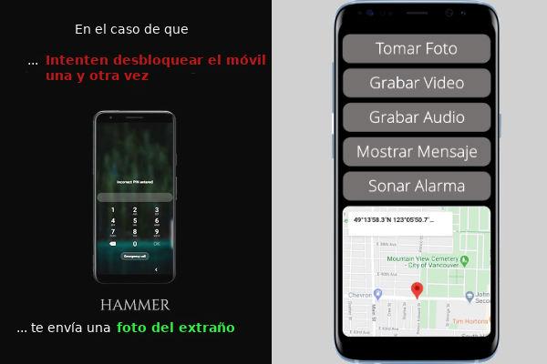 localizar móvil robado con hammer-security