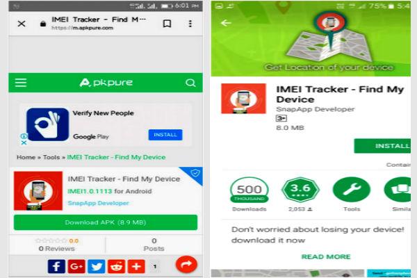 aplicacion imei tracker