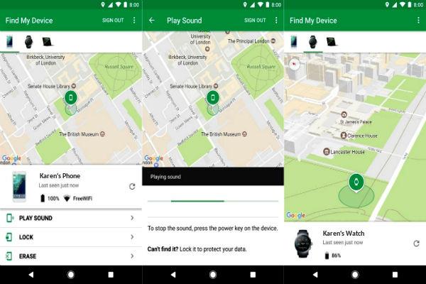localizar celular con find my device