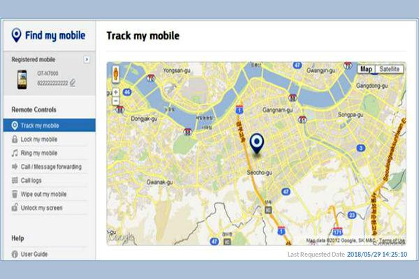 localizar celular con find my mobile