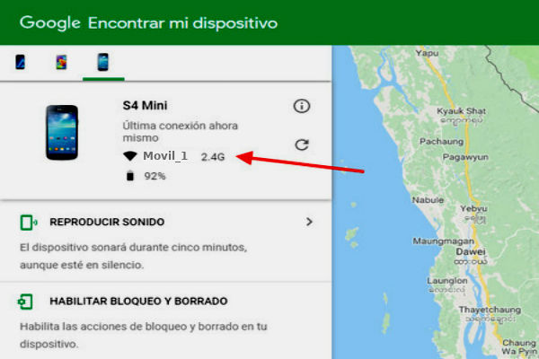 localizar movil android